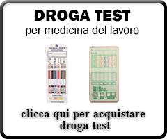 Vendita droga test uso medico
