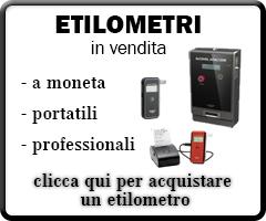 Vendita etilometri portatili, a moneta e professionali